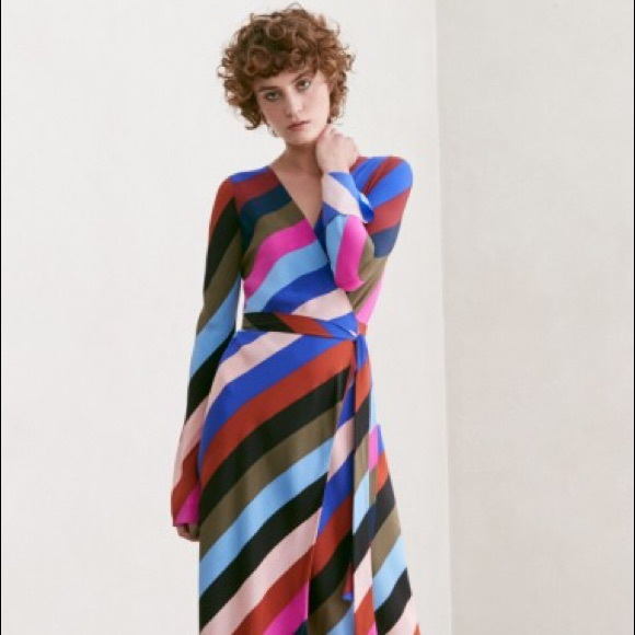 Diane Von Furstenberg Dresses | Dvf Carson Stripe Dress | Poshmark